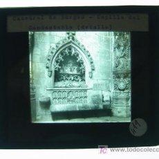 Fotografía antigua: CATEDRAL DE BURGOS, CAPILLA DEL CONDESTABLE - ANTIGUO CRISTAL PARA LINTERNA MAGICA - AÑOS 1930. Lote 10381545