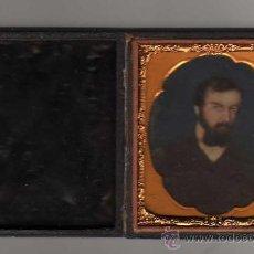 Fotografía antigua: MINIATURA PINTADA DE PERSONAJE,CON ESTUCHE,MITAD S. XIX,VER FOTOGRAFIAS ADICIONALES.. Lote 26643039