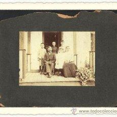Fotografía antigua: ANTIGUA FOTO CABINET DE UNA FAMILIA .MONTADA SOBRE CARTON.USA FINALES DEL SIGLO X I X. Lote 24196827