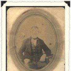 Fotografía antigua: ANTIGUA FOTO CABINET DE UN SEÑOR.MONTADA SOBRE CARTON.USA FINALES DEL SIGLO X I X. Lote 22750498