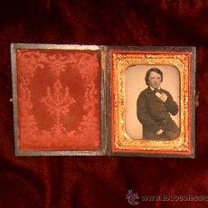 Fotografía antigua: AMBROTIPO ~ DAGUERROTIPO SIGLO XIX ~ 1860 APROX. ~ GASTOS DE ENVÍO INCLUIDOS ~ REF. 01014. Lote 23663056