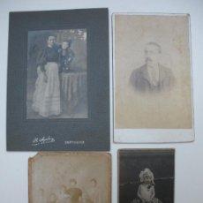 Fotografía antigua: 4 FOTOGRAFIAS ANTIGUAS. Lote 26819127