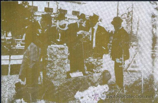 PLANCHA LITOGRÁFICA CON LA FOTOGRAFIA DE ALFONSO XIII COLOCANDO UNA PLACA CONMEMORATIVA (Fotografía Antigua - Ambrotipos, Daguerrotipos y Ferrotipos)