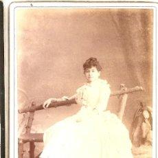 Fotografía antigua: L. SANCHEZ ,VALENCIA ,,FOTO ANTIGUA 1888. Lote 32919746