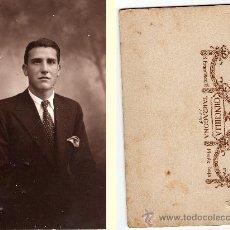 Fotografía antigua: STUDIO FOTOGRÁFICO CHINCHILLA, SAN FRANCISCO 17, TARRAGONA, MEDIDAS: 9 X 14 CM. Lote 33028041