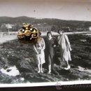 Fotografía antigua: PLAYA PLACERES.PONTEVEDRA. AL FONDO MARÍN ESTRIBELA AÑO1928-30.SIN EDIFICACIÓN .ENVIO PAGO.VER DETAL. Lote 33302606