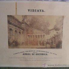 Fotografía antigua: VIZCAYA. VISTA DEL TEMPLO JURADERO AL PIE DEL ARBOL DE GUERNICA.. Lote 35560967