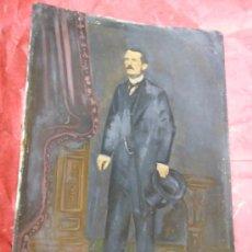 Fotografía antigua: 1886 FERROTIPO PINTADO FOTOGRAFIA - RETRATO DE UN HOMBRE - GRAN TAMAÑO FIRMADO POR E.G. MONTES. Lote 37597189