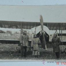 Fotografía antigua: ANTIGUA FOTOGRAFIA DE AVIACION - BIPLANO DEL PILOTO FRANCES AUGUSTE MAICON -AÑO 1924. Lote 72239339