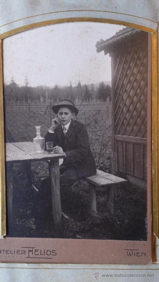 Fotografía antigua: Album de fotos victoriano o modernista - Con 21 fotos - Finales S. XIX - Foto 12 - 38545645