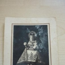 Fotografía antigua: MERÁS, FOTOGRAFÍA DE LA VIRGEN DE COVADONGA. RARÍSIMA 8,5 X 12,5 CM. ÚNICO. Lote 39179397