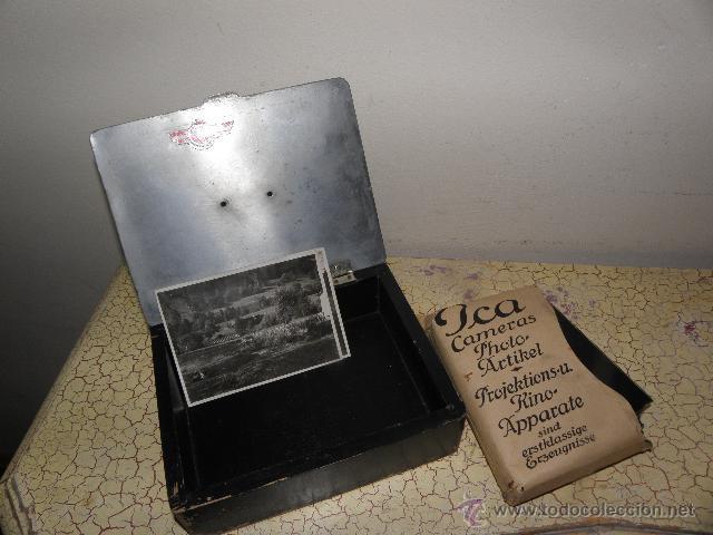 LOTE DE NEGATIVOS DE FOTOGRAFIAS EN CRISTAL - CAJA METALICA Y PAQUETE ORIGINAL (Fotografía Antigua - Ambrotipos, Daguerrotipos y Ferrotipos)