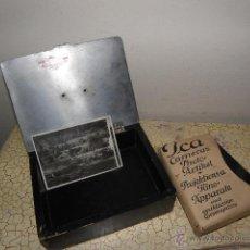 Fotografía antigua: LOTE DE NEGATIVOS DE FOTOGRAFIAS EN CRISTAL - CAJA METALICA Y PAQUETE ORIGINAL. Lote 39865793