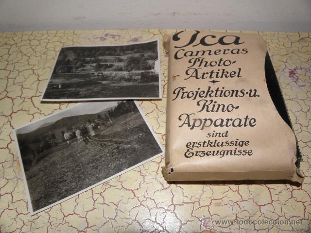 Fotografía antigua: Lote de negativos de fotografias en cristal - caja metalica y paquete original - Foto 3 - 39865793