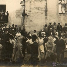 Fotografía antigua: ANTIGUA FOTOGRAFIA SOBRE POSTAL-DE FIESTA CON BAILE POPULAR-ACIA 1920. Lote 40187759