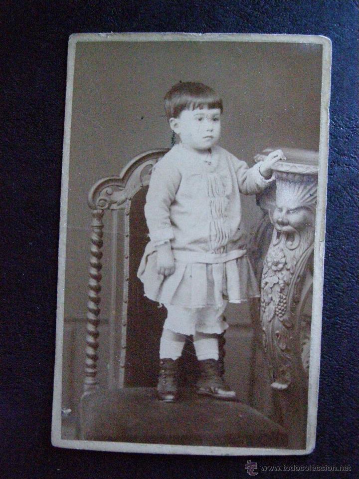 BONITA FOTOGRAFIA DE ISABEL - FOTO JUNIO 1884 - VER FOTOS - VER REVERSO (Fotografía Antigua - Ambrotipos, Daguerrotipos y Ferrotipos)