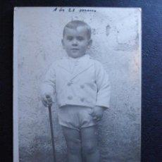 Fotografía antigua: MUY ANTIGUA FOTOGRAFIA - ANTONIO A LOS 23 MESES - 1933 -. Lote 41122080