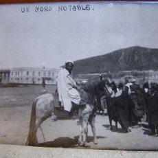 Fotografía antigua: ANTIGUA FOTOGRAFIA - UN MORO NOTABLE - LUGAR SIN DETERMINAR. Lote 41154351