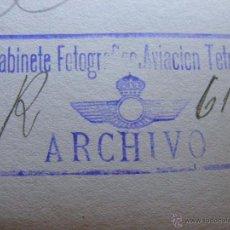 Fotografía antigua: ANTIGUA FOTOGRAFIA AEREA - GABINETE FOTOGRÁFICO AVIACIÓN DE TETUAN - 1920 - FECHADA Y SELLADA. Lote 41692803