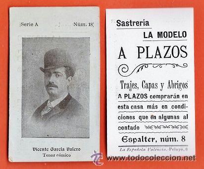Fotografía antigua: Muy Antigua y bonita fotografia - Escritor: Vicente Garcia Valero - Con dedicatoria - M. Pol -Cádiz - Foto 3 - 41089692