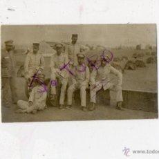 Fotografía antigua: ANTIGUA FOTOGRAFIA DE MILITARES ESPAÑOLES EN MELILLA. Lote 42778870