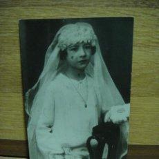 Fotografía antigua: FOTO DE 1ª COMUNION - AÑO 1923. Lote 43739130