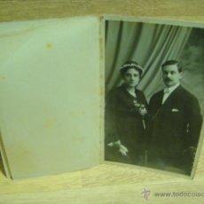 Fotografía antigua: FOTO DE MATRIMONIO- FOTO ERNEST - BARCELONA. Lote 43739765