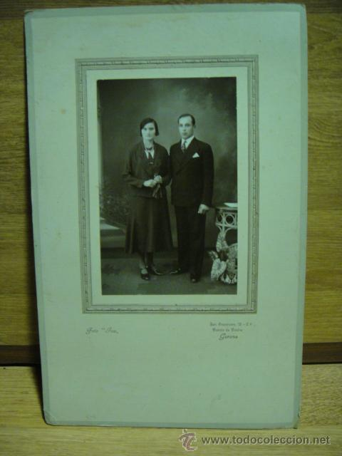 FOTO DE MATRIMONIO - FOTO JOU - GERONA (Fotografía Antigua - Ambrotipos, Daguerrotipos y Ferrotipos)