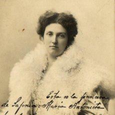 Fotografía antigua: ANTIGUA POSTAL LA PRINCESA DE LA SAJONIA - MARIA ANTONIETA. Lote 44490616