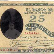 Fotografía antigua: CURIOSO FERRROTIPO ESPAÑOL EN FORMA DE BILLTE DE VEINTICINCO PESETAS. 12 X 6 CM . Lote 44561055