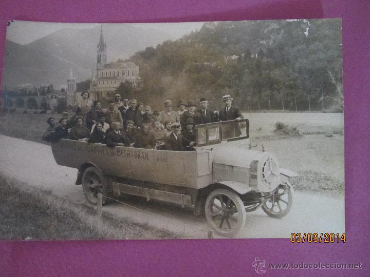 Fotografía antigua: Antigua Fotografia de Autobus Descapotable del Servicio GROTTES de BETHARRAM - Año 1930s. - Foto 4 - 45097565