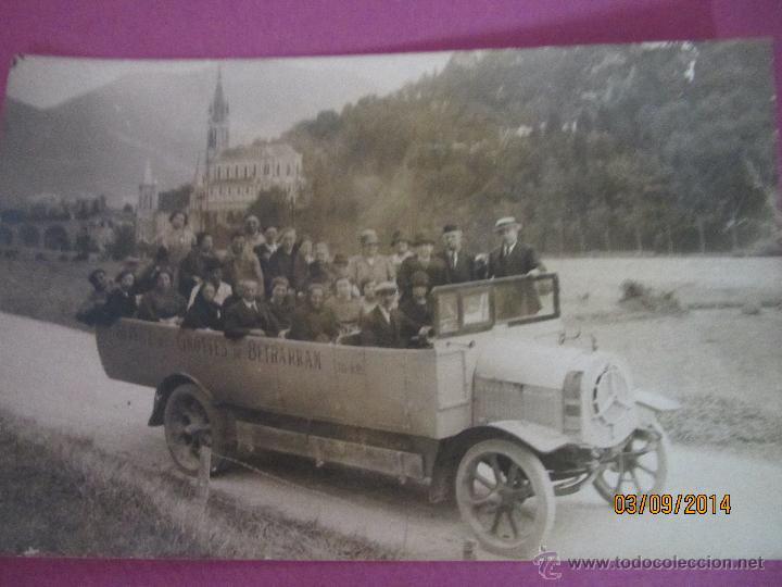 Fotografía antigua: Antigua Fotografia de Autobus Descapotable del Servicio GROTTES de BETHARRAM - Año 1930s. - Foto 5 - 45097565