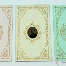 Fotografía antigua: 3 FERROTIPOS DEL MISMO PERSONAJE, NOV. 1889. LANDREY FOTÓGRAFO, PARÍS. TAMAÑO CDV.. Lote 45368378