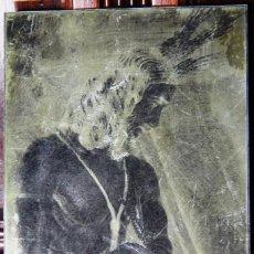 Fotografía antigua: SEMANA SANTA DE MALAGA CRISTO DE LOS GITANOS ANTIGUO CLICHE DE FOTOGRAFIA DE METAL. Lote 45514142