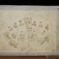 Fotografía antigua: IMPORTANTE FOTOGRAFIA MONTAJE DE GRUPO DE HISTÓRICAS FIGURAS DEL TOREO - FECHADO EN MAYO DE 1898. Lote 45884921