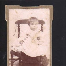 Fotografía antigua: FOTOGRAFÍA ANTIGUA. BEBE.. Lote 46317892