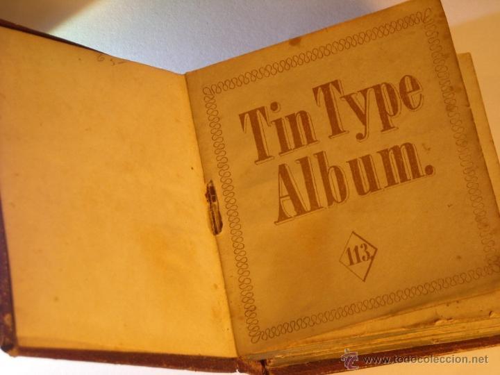 TINTYPE ALBUM ANTIGUO ALBUM DE FERROTIPOS GEM (Fotografía Antigua - Ambrotipos, Daguerrotipos y Ferrotipos)
