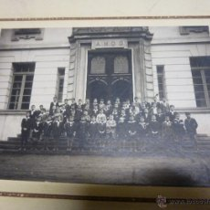 Fotografía antigua: FOTOGRAFIA DE GRUPO ESCOLAR DE NIÑOS, FOTOGRAFIA PACHECO DE VIGO, EN CARTON RIGIDO DE 26 X 20 CM.. Lote 47374952
