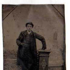 Fotografía antigua: BELLO FERROTIPO DE ESCENA DE HOMBRE. 1883. C. BÖCKLE. ALEMANIA. Lote 47488563