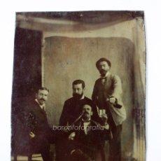 Fotografía antigua: FERROTIPO DE GRUPO DE AMIGOS, 1860'S. PROCEDENCIA: MÁLAGA CIUDAD. 10X6,5CM.. Lote 48311054