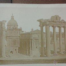 Fotografía antigua: PAPEL A LA SAL O CALOTIPO POSITIVO. VISTA DE ROMA. RUINAS ROMANAS. MEDIDAS 21,50 X 31 CM (SÓLO FOTO). Lote 48444247