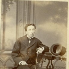 Fotografía antigua: ZARAGOZA. MARQUÉS DE MONTEMUZO.HACIA 1870.TIPO CDV.. Lote 48979377