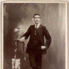 Fotografía antigua: ANTIGUA FOTOGRAFÍA DE HOMBRE - FOTOGRAFÍA MODERNA FRANCISCO MALERBA DE MENDOZA (ARGENTINA). Lote 200160198