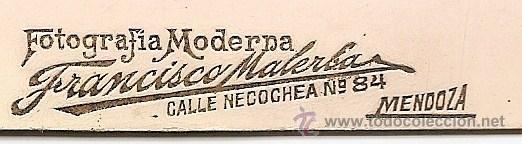 Fotografía antigua: ANTIGUA FOTOGRAFÍA DE HOMBRE - FOTOGRAFÍA MODERNA FRANCISCO MALERBA DE MENDOZA (ARGENTINA) - Foto 2 - 200160198
