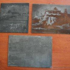 Fotografía antigua: 3 ANTIGUOS CLICHES CLICHE DE FOTOGRAFIA MALAGA, BALCON EUROPA NERJA - NEGATIVO EN METAL. Lote 49530916