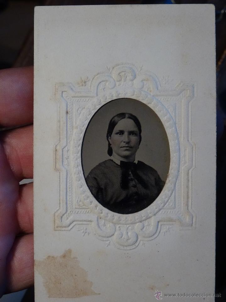 Fotografía antigua: colodion tintipo ferrotipo 1/6 placa 1870 1890 siglo XIX mide aprox 60mm x 90mm - Foto 2 - 50281916