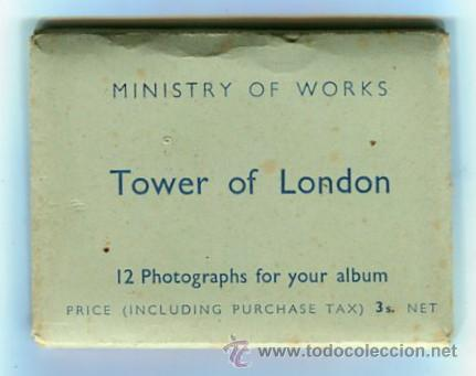 Fotografía antigua: TOWER OF LONDON CARPETA CON 12 FOTOGRAFIAS (COMPLETA) TAMAÑO 9 X 6 CMS - Foto 1 - 50682170