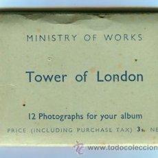 Fotografía antigua: TOWER OF LONDON CARPETA CON 12 FOTOGRAFIAS (COMPLETA) TAMAÑO 9 X 6 CMS. Lote 50682170