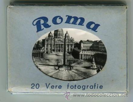 ROMA CARPETA CON 20 FOTOGRAFIAS (COMPLETA) TAMAÑO 9 X 6 CMS (Fotografía Antigua - Ambrotipos, Daguerrotipos y Ferrotipos)