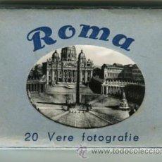 Fotografía antigua: ROMA CARPETA CON 20 FOTOGRAFIAS (COMPLETA) TAMAÑO 9 X 6 CMS. Lote 50682404